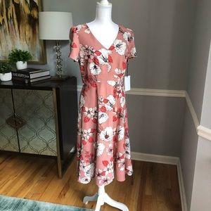 Georgia Peach floral dress from Saks